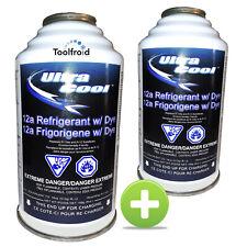 Lot 2 recharges ULTRACOOL compatibles R134A, climatisation auto 12a, gaz clim