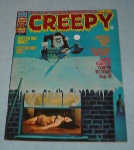 1974 WARREN CREEPY HORROR COMICS MAGAZINE #59 KILLER SANTA CLAUS COVER SANJULIAN