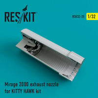 Mirage 2000 exhaust nozzles for KITTY HAWK  1/32 ResKit RSU32-0025