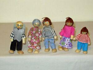 Lot 5 Melissa & Doug Dollhouse Wood Family Figures grandparents parents kid