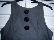 River Island Starlot Unusual Grey Ruched Pinafore Dress Work Office 8-10 S Small