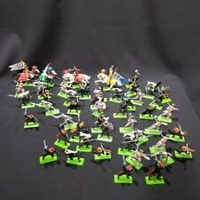 Vintage BRITAINS 1971 DEETAIL CRUSADER  Army Guys Horses Metal Bases Lot Of 50