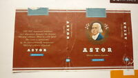OLD EMPTY CIGARETTE PACKET LABEL FROM GERMANY, ASTOR BRAND 20 2
