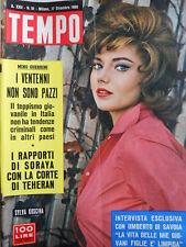 TEMPO n°51 1960 Silva Koscina - Halina Zalewska - Mina Dorelli [C90]