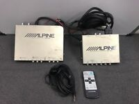 Alpine Tue-T012 Tv Tuner and Kce-150v Rgb Convertor With Remote and Cables