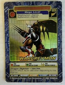 DIGIMON WarGreymon ST-84 Holo Foil Card Digital Monster TCG CCG 2001