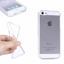 Crystal Clear Thin Back TPU Gel Jelly Skin Case Cover For iPhone 5/5S/SE UK SELL