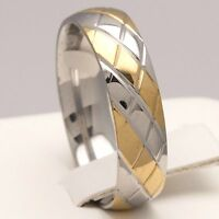 6mm Stainless Steel Mens & Womens Wedding Band - New Silver & Gold Comfort Ring