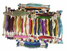 50 EmbroideryThreads Large Skeins Art Silk/Rayon Stranded Solid Colour Threads