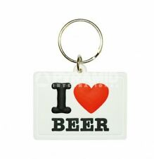 I Love Beer PVC flexible keyring    (py)   REDUCED !!