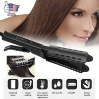 Four Gear Ceramic Tourmaline Ionic Flat Iron Hot Hair Straightener Glider US New