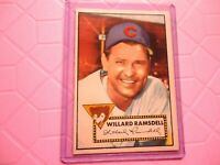 1952 TOPPS WILLARD RAMSDELL CHICAGO CUBS #114 VERY NICE CONDITION