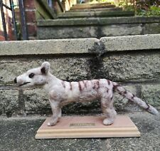 More details for tasmanian tiger thylacine needle felted  large australia hunting fake taxidermy
