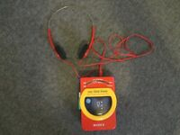 1993 MY FIRST SONY WALKMAN WM-F3050 CASSETTE RADIO W/HEADPHONES-PARTS/REPAIR