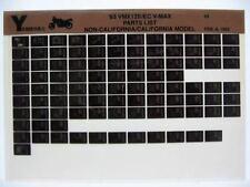 Yamaha VMX12 V-Max 1993 VMX1200E VMX1200EC  Parts List Manual Microfiche o31