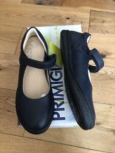 Girls Primigi Leather Navy School Shoe Size EU 33 UK 1