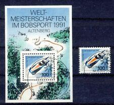 1496 + Block 23 gestempelt Bobsport Bund 1991