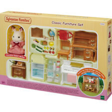 Sylvanian Families Classic Furniture Set with Chocolate Rabbit Mother Figure