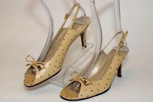 Stuart Weitzman NEW Spain Made Womens 7.5 N Narrow Embossed Leather Heels Shoes