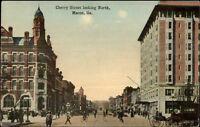 Macon GA Cherry St. c1910 Postcard