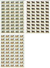Zambia, Sello de Correos, #419-421 Timbre Nh Hojas, 1987 Vacas, Jfz