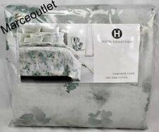 Hotel Collection Meadow Pima Cotton Full / Queen Duvet Cover Sage