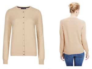 M&S COLLECTION ASSORTED COLOURS PURE CASHMERE BUTTON THROUGH CARDIGAN