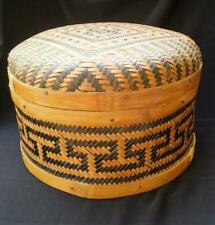 Antique Early Chinese Bamboo Woven Basket-People's Republic of China-Museum Qual