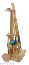 4 Player Croquet Set Gomma legno Croquet famiglia Outdoor GIOCO GIARDINO