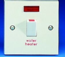 GET GSWDPN20AFOWH 20A Engraved Switch With Neon & Flex Outlet  WATER  HEATER