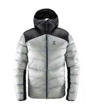 Haglofs Mojo Down Hood Grey/Black Mountain Winter Sports Coat Jacket Medium