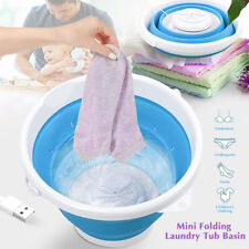Folding Mini Portable Washing Machine Laundry Clothes Automatic Clean Barrel US