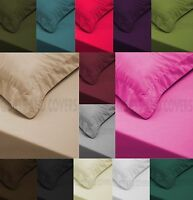 Luxury 300TC Two Oxford Pillow Case Cases 100% Egyptian Cotton Pair Pack Bedroom