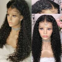 Pre Plucked Virgin Indian Human Hair Lace Front Wigs Curly 360 Full Lace Wig kuz