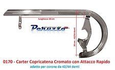 Carter Copricatena in Acciaio Cromato Attacco Lampo per Bici 20-24-26 Graziella