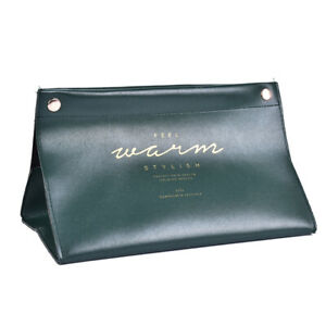 PU Leather Tissue Box Cover Napkin Paper Storage Dispenser Holder Home Organ FJ