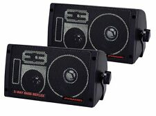 NEW (2) 3-way Surface wall Mount Speaker Pair.Marine House boat.Car.Jeep.4 ohm.