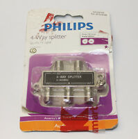 Philips 150 Series 4 Way Splitter Universal 5-900 MHz For Quality LCD TV Signal