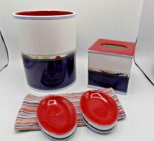 Tommy Hilfiger Bath Accessory Set Tissue, Wastebasket, 2 soap dishes (M1)