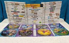 Nintendo Wii Game Lot 55 Games No Duplicates - Tested