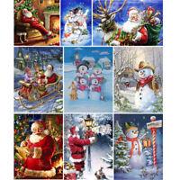 Santa Claus Snowman Full Drill 5D DIY Diamond Painting Kits Wall Decor Xmas Gift