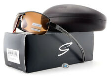 New Serengeti STRATO 7682 Sunglasses | Shiny Gunmetal / Polarized Drivers Lens