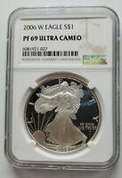2006 W Silver Eagle NGC PF 69 Ultra Cameo