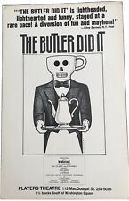 The Butler Did It 1981 Off Broadway windowcard