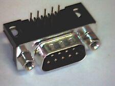 2x Sub-D-Stecker 9pol male Print 90° mit Gewindemuttern und Montagelöchern #2
