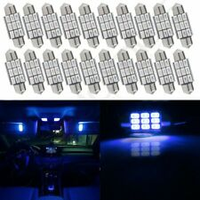 20X Blue 1.41 inch/36mm 9SMD-5730 Car Interior Festoon LED Lights For Dome Map