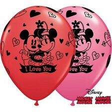 Party Supplies Birthday Disney Mickey & Minnie Love You Latex Balloons Pk 10