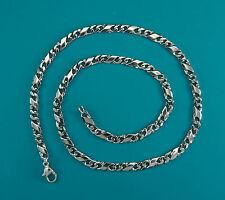Hals-Kette, Collier-Kette   FANTASIE -  KETTE  50 cm  in Silber 925/ooo antik
