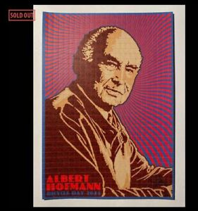 Albert Hofmann Bicycle Day 2021 Blotter Art by Chuck Sperry LE200 CONFIRMED