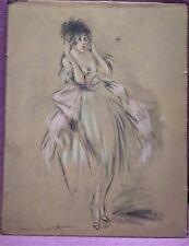 Lithographie Icarts Studio Pastel Add, W de 380 Limitée 1927